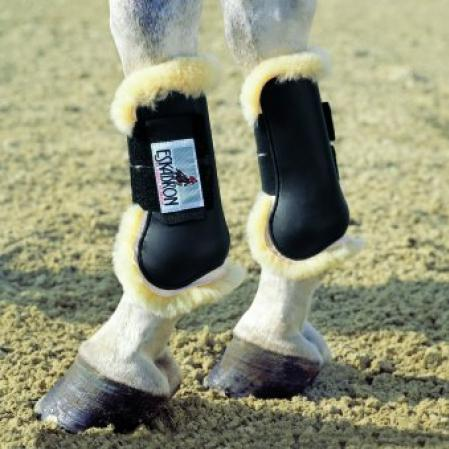 Open Fronted Sheepskin Protection Tendon Boots pony