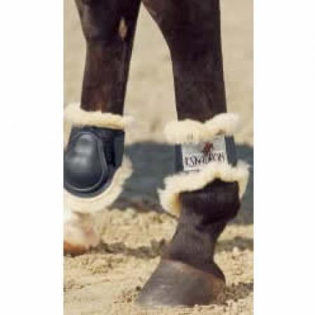Fetlock boots sheepskin lined pony